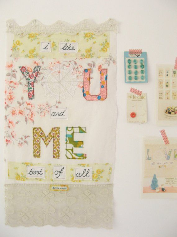 YOU and ME... grande 'just say it like it is' wall hanging