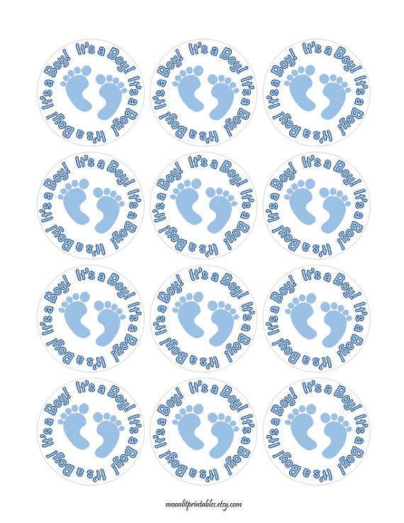 Its a Boy Stickers Blue Baby Shower Labels Baby Boy Shower | Bebes y ...