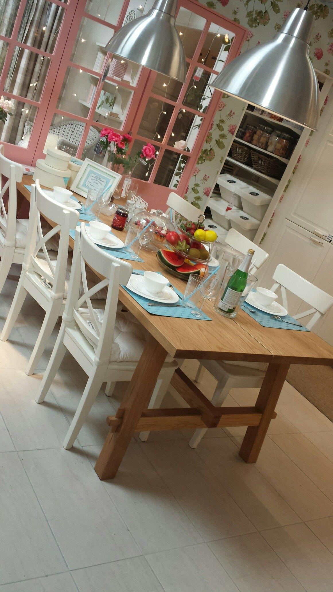 Table Möckelby Ikea dining room, Farmhouse dining room