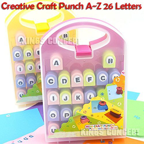 DIY Album Scrapbooking Tools Craft Alphabet Paper Punch AZ Letters >>> You can find out more details at the link of the image.Note:It is affiliate link to Amazon.