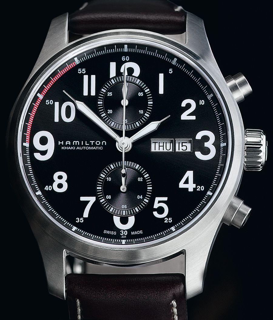 b51203310 Hamilton Khaki Field Officer Auto Chrono watch   Watches en 2019   Reloj