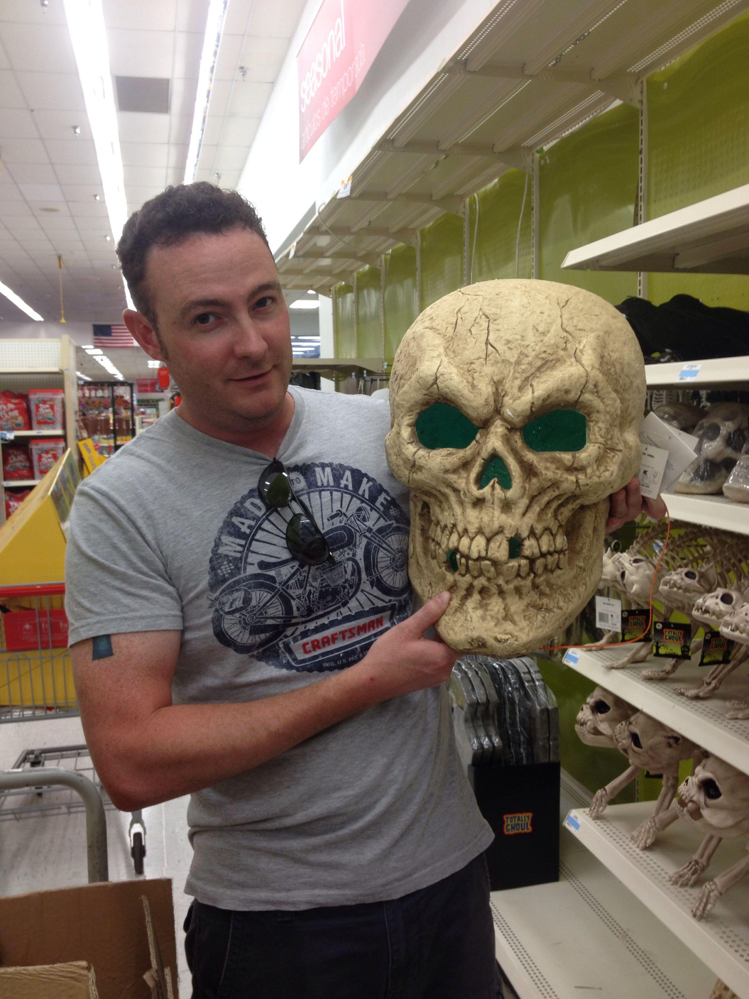 giant light up skull at kmart halloween decorations - Kmart Halloween Decorations