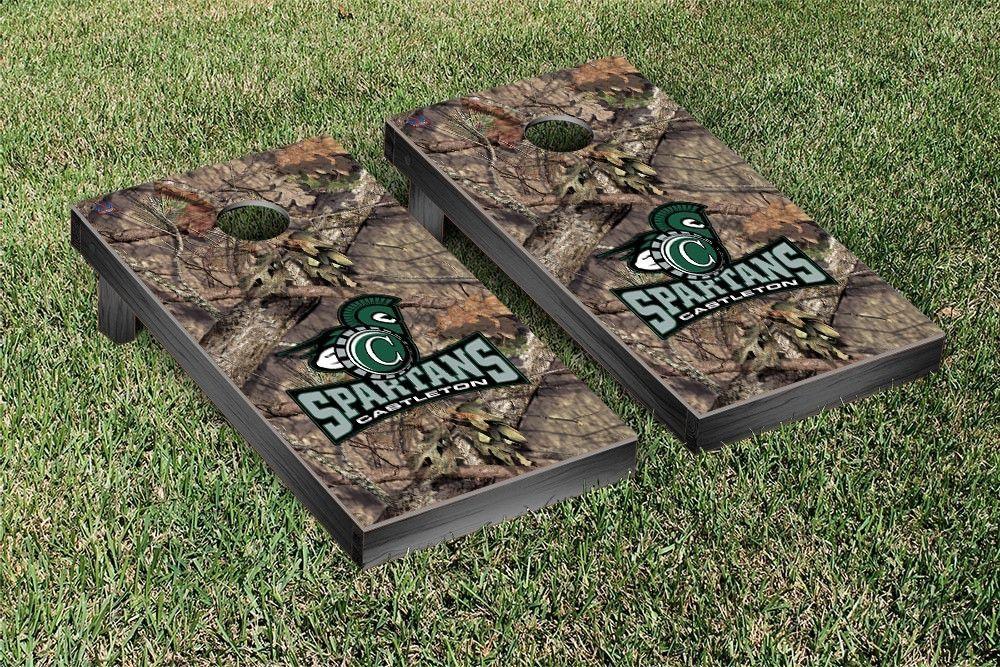 Castleton Spartans Mossy Oak Bag Toss Cornhole Game