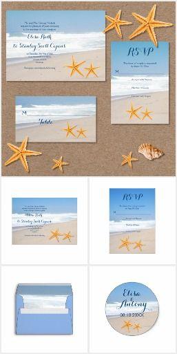 #Starfish pair beach #weddinginvitations collection