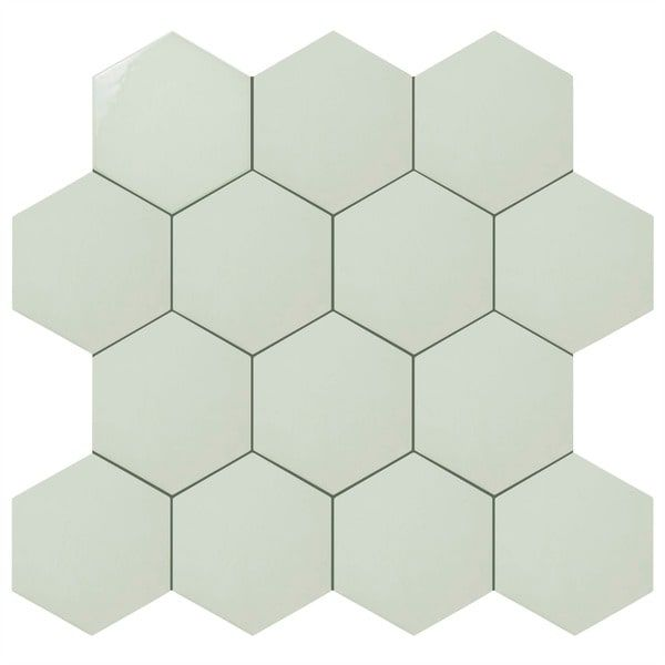 SomerTile X Inch Hextile Glossy Grey Ceramic Floor And Wall Tile - 8 inch square ceramic tiles