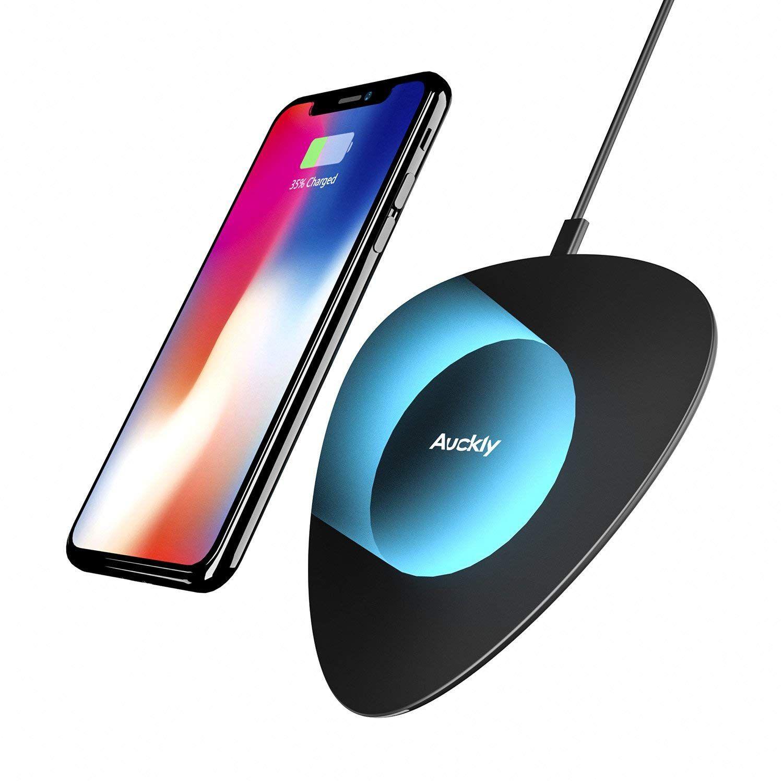 Chargeur Sans Fil Rapide Auckly 10w Qi Pad Chargeur Sans Fil A Induction Rapide Pour Iphone X 8 8 Plus Galaxy S9 S9 S8 S Iphone Prix Iphone 7 Galaxy