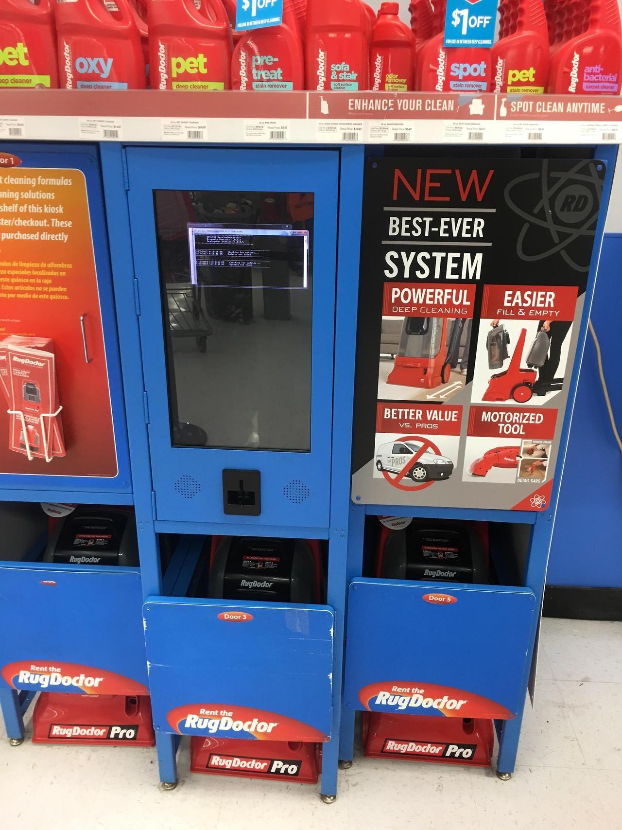 Returning Something At Walmart Rug Doctor Kiosk Station Bsod