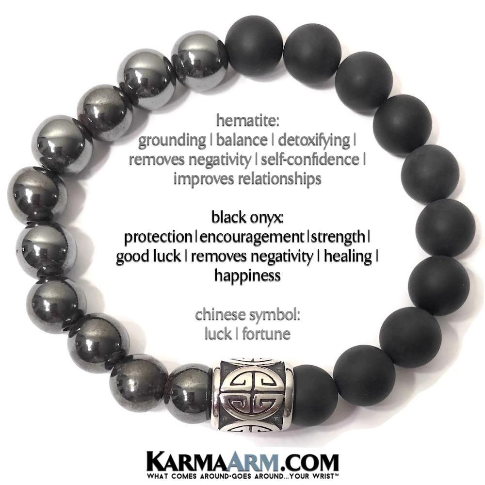 Black Onyx BUDDHA bracelet mens womens bracelet Custom size Spiritual reiki chakra stone jewellery Gemstone crystal beaded bracelet