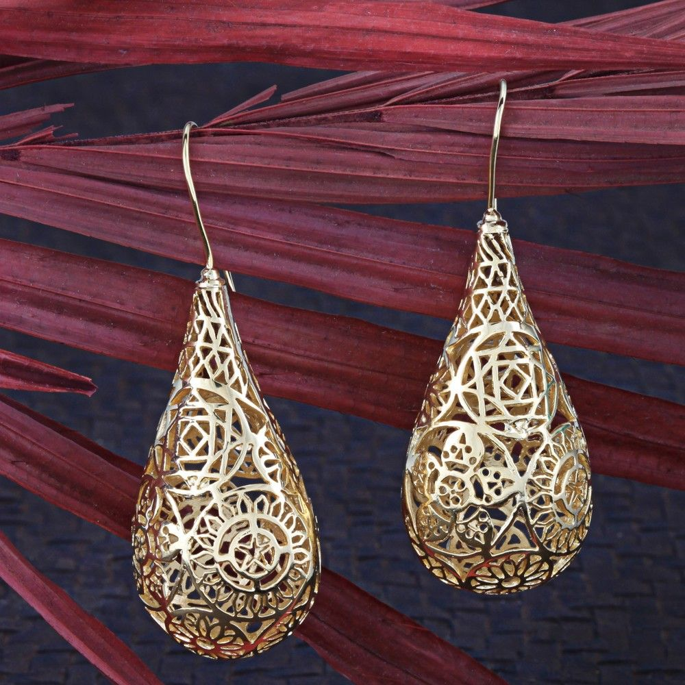 Gold Plated Glorious Earrings