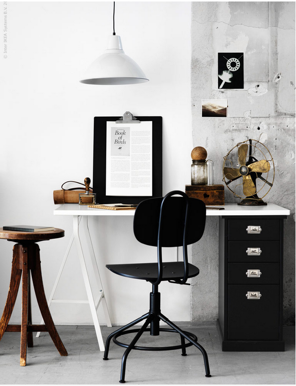 new industrial vintage style office chair at ikea shared wkspc pinterest arbeitszimmer. Black Bedroom Furniture Sets. Home Design Ideas