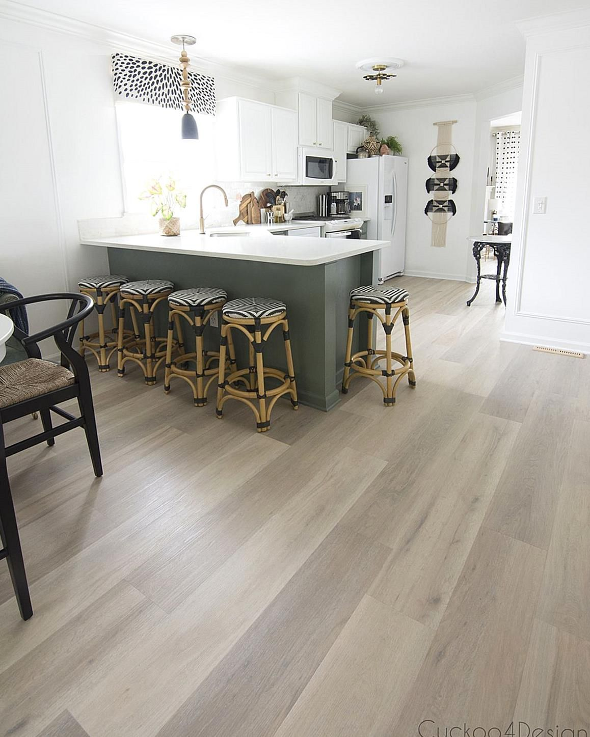 Im sharing all my reasons for choosing lightcolored Karndean vinyl wood plank fl...