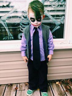 Diy Joker Toddler Costume Liam Homemade Halloween