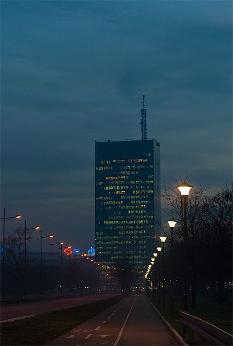 Usce Tower The Tallest Building In Belgrade Located In New
