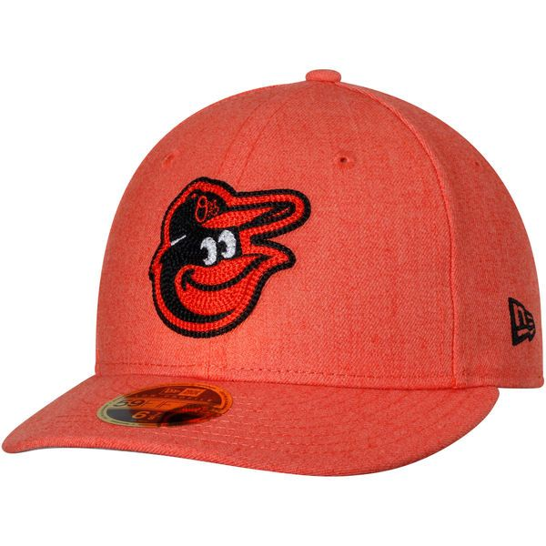 promo code e9bf5 694d8 Men s Baltimore Orioles New Era Heathered Orange Crisp Low Profile 59FIFTY  Fitted Hat,  34.99