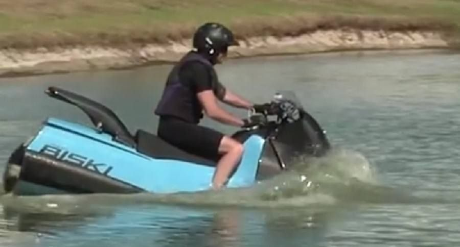 Want To Drive Your Motorcycle Into The Water So Did They