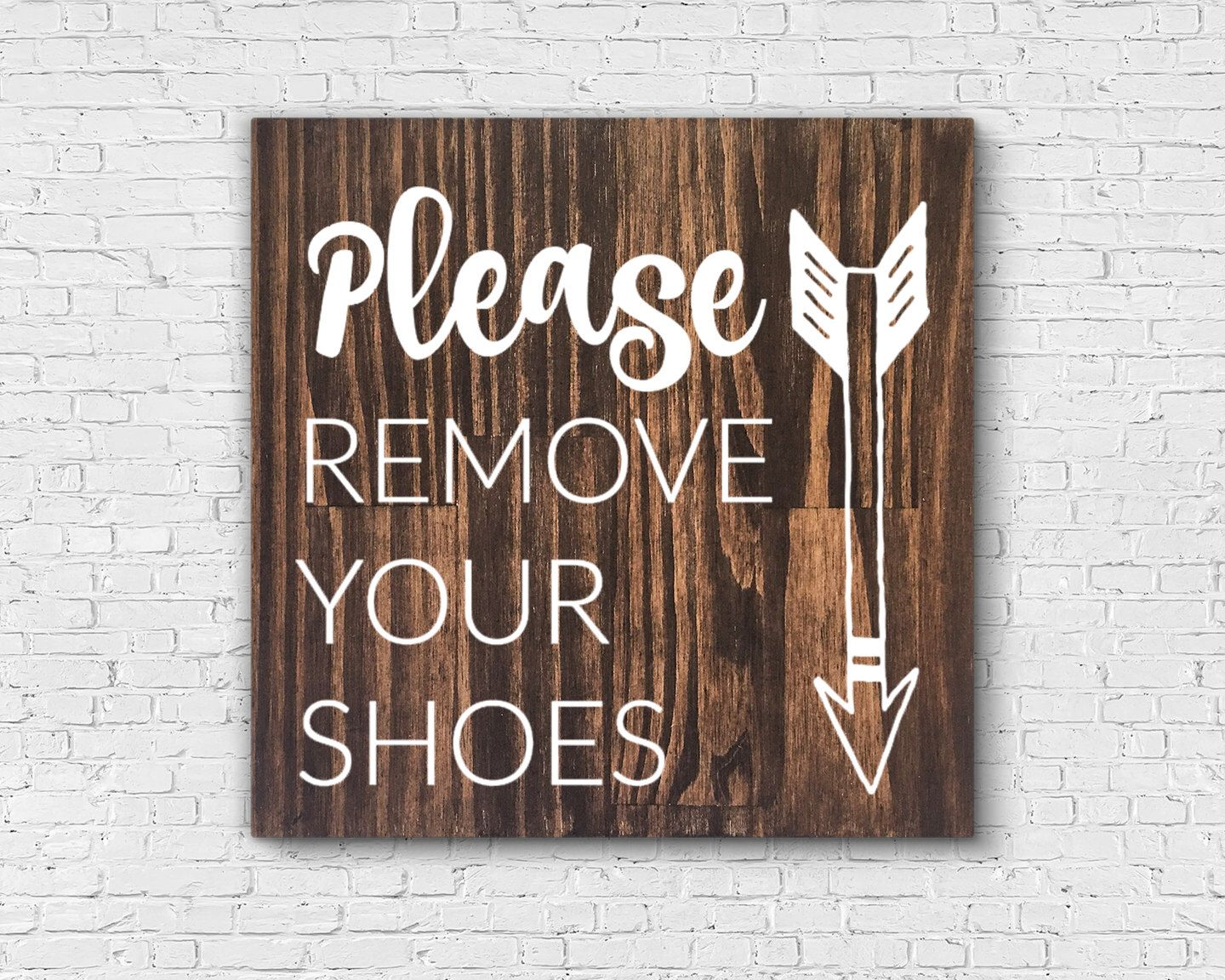 Entryway sign please remove your shoes sign no shoes