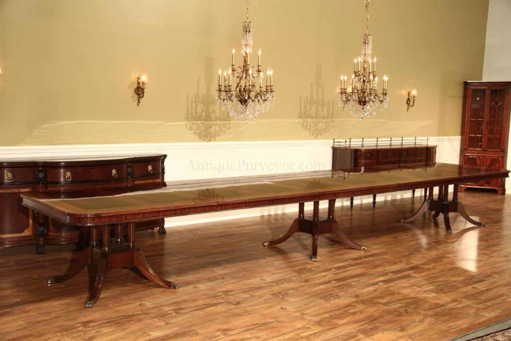 16 Foot Extra Long Dining Table Seats 20 In 2020 With Images