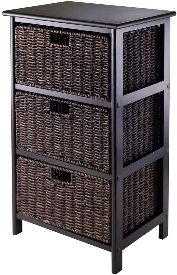 Winsome Omaha Storage Rack Amp 3 Basket Unit Хранение Плетение корзин Интерьер