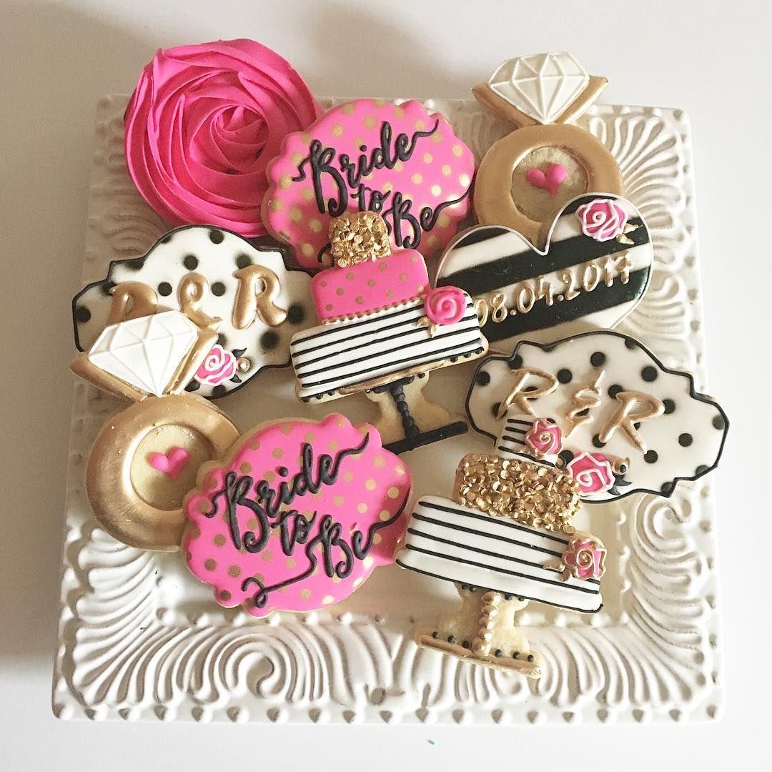 kate spade theme bridal shower cookies