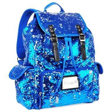 Betseyville Sequin Backpack Betseyville Blue Sequins Backpacks