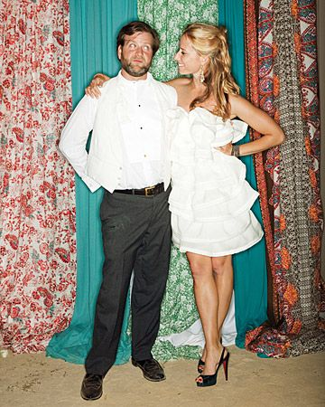 Love the photobooth backdrop!  From Martha Stewart weddings online.