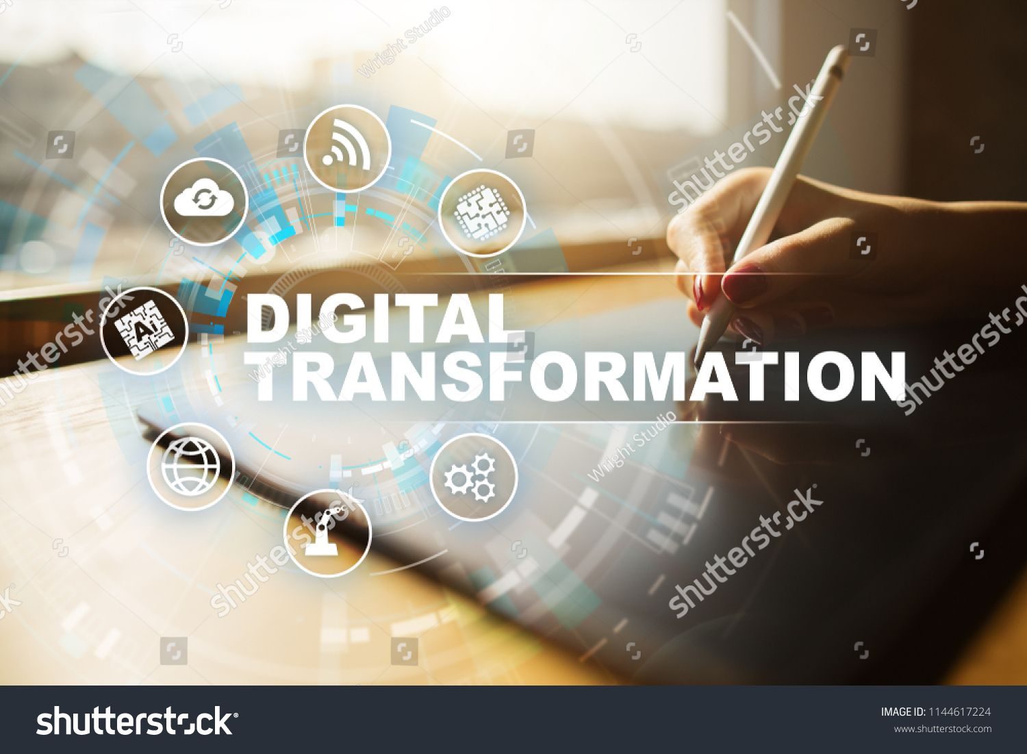 Digital Transformation Concept Of Digitization Of Business Processes And Modern Technology Ad Affiliate Digital Transformation Business Process Digital Digital transformation wallpaper hd