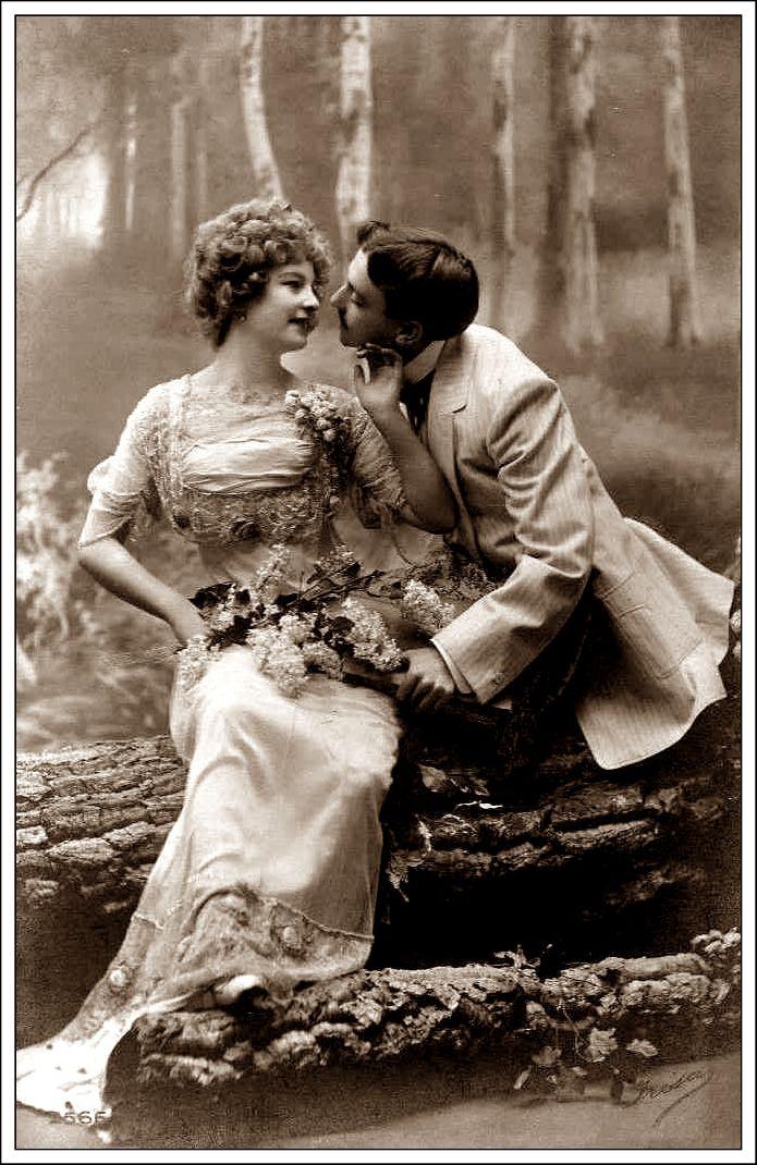 Vintage couple blowing