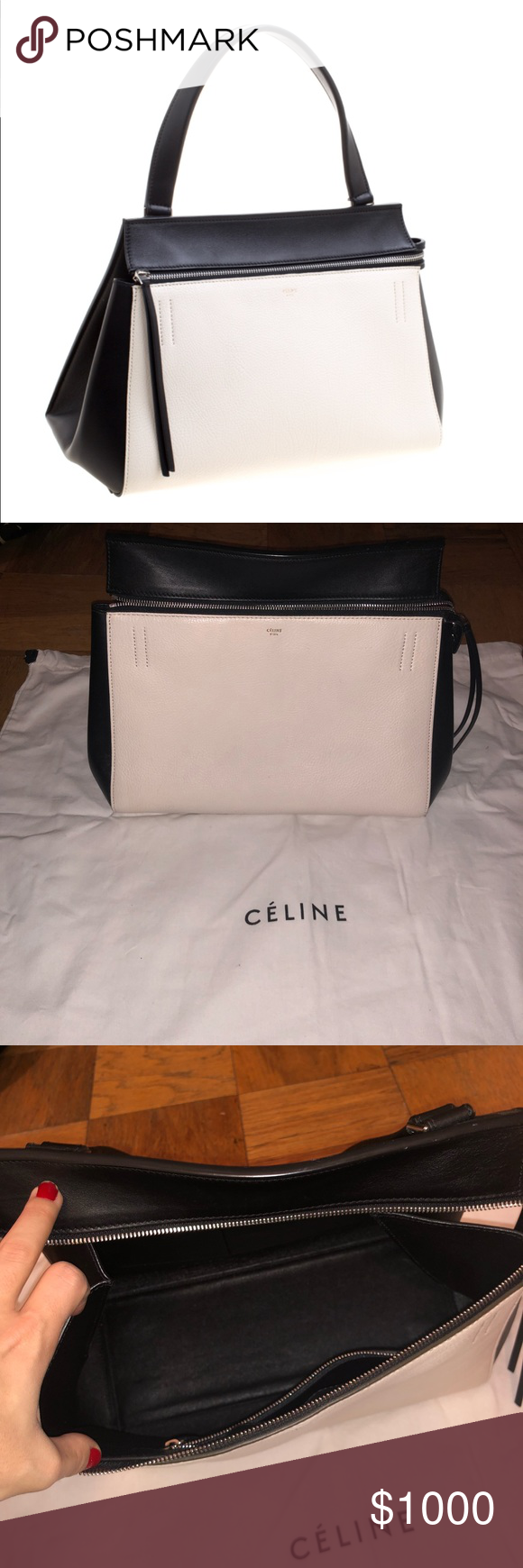 a8939ee641 Céline Médium Edge one shoulder bag Constructed in a neat silhouette