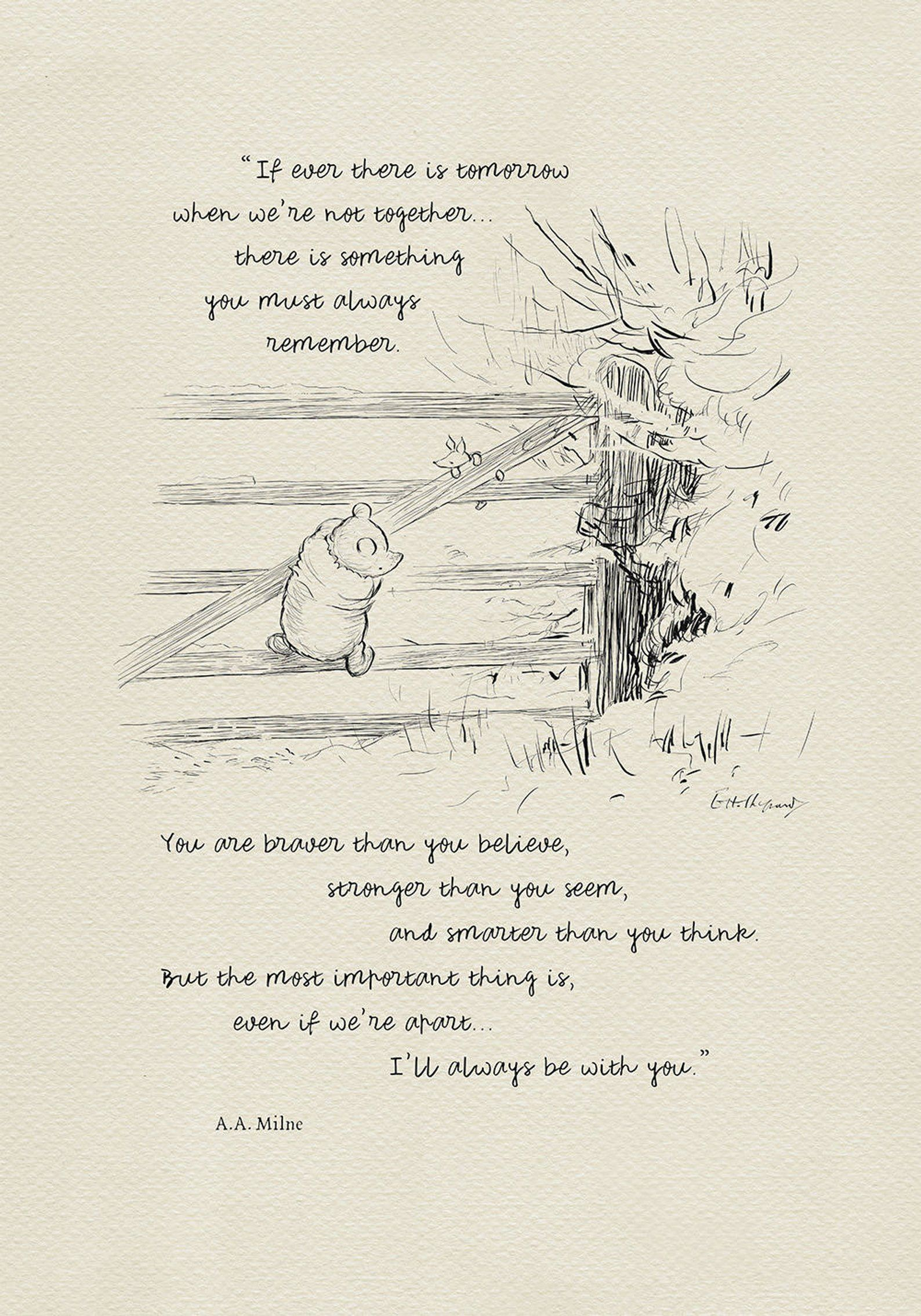 If Ever There Is Tomorrow Winnie The Pooh Quotes Etsy