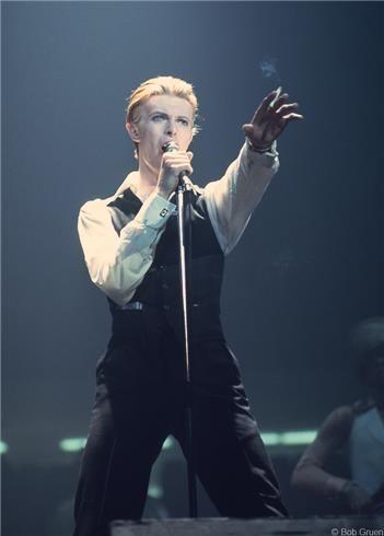 David Bowie, Detroit - 1976 © Bob Gruen