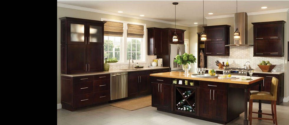 Perfect Collection: Reading | Species: Maple | Color: Espresso. American Woodmark  Cabinetry At