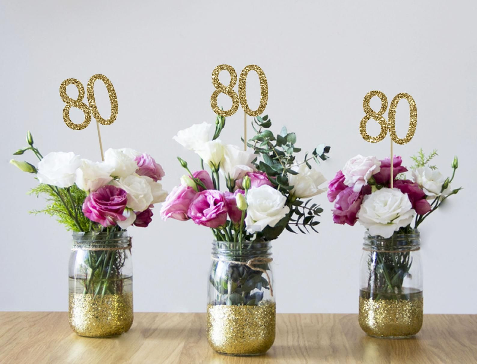 80th Birthday Centerpieces 80th Centerpieces 80th Birthday Party 80th Birthday Decor Gold 80th Birthday Party Decorations 80th Party Decor In 2020 50th Birthday Centerpieces 60th Birthday Centerpieces 30th Birthday Party Decorations