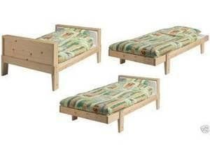Expandable IKEA wooden twin/toddler bed