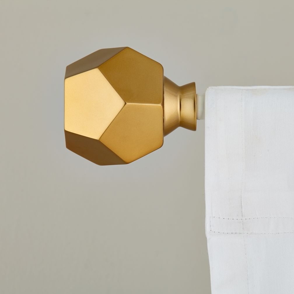 Geometric Finials Add A Rockin Touch To Your Window Treatments