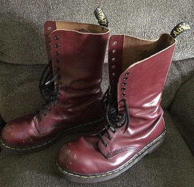 oxblood work boots
