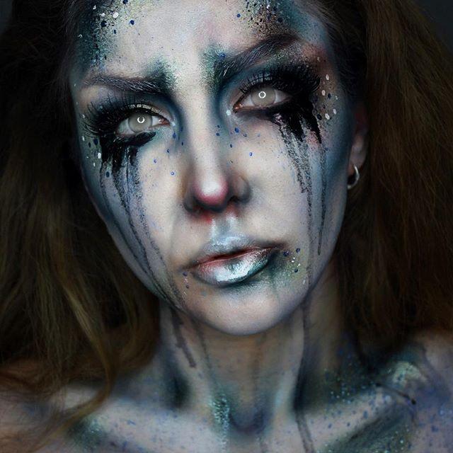 maquillage halloween dame blanche