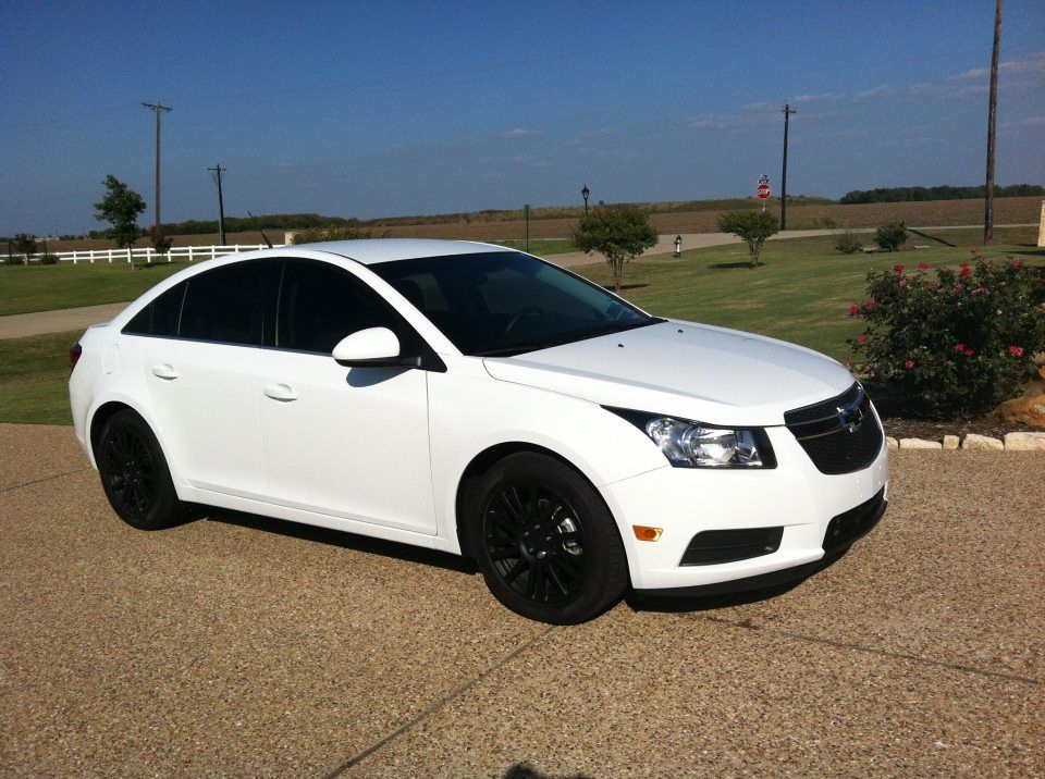 Chevy Cruze White With Black Rims Google Search Cruze Chevy