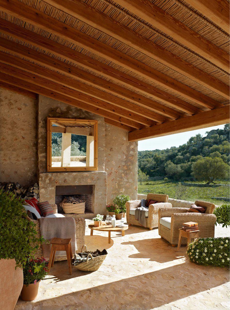De buitenkamer decoracion exteriores pinterest - Terraza casa de campo ...