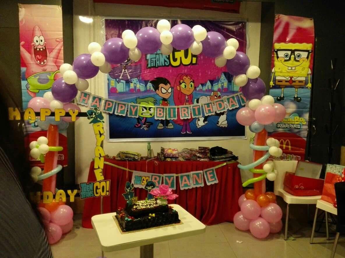 Teen Titan Diy Kids Party Decor Ryanes Birthday Teen Titan Diy