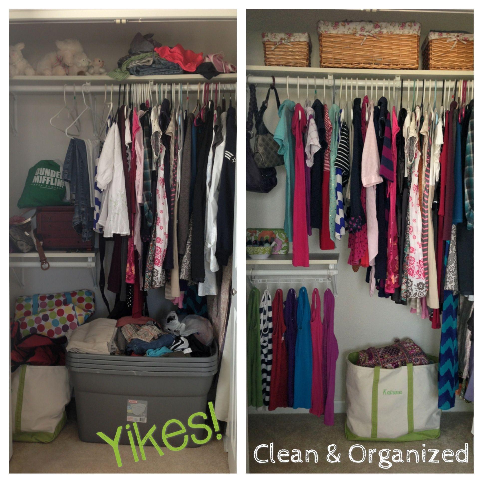 Closet Organization Small Closet Space Closet Organization Declutter Closet