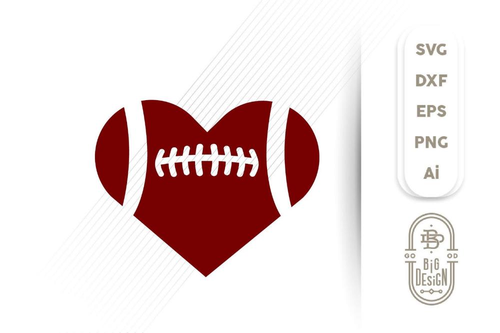 Download Football Heart SVG Football Ball SVG Football svg | Etsy ...