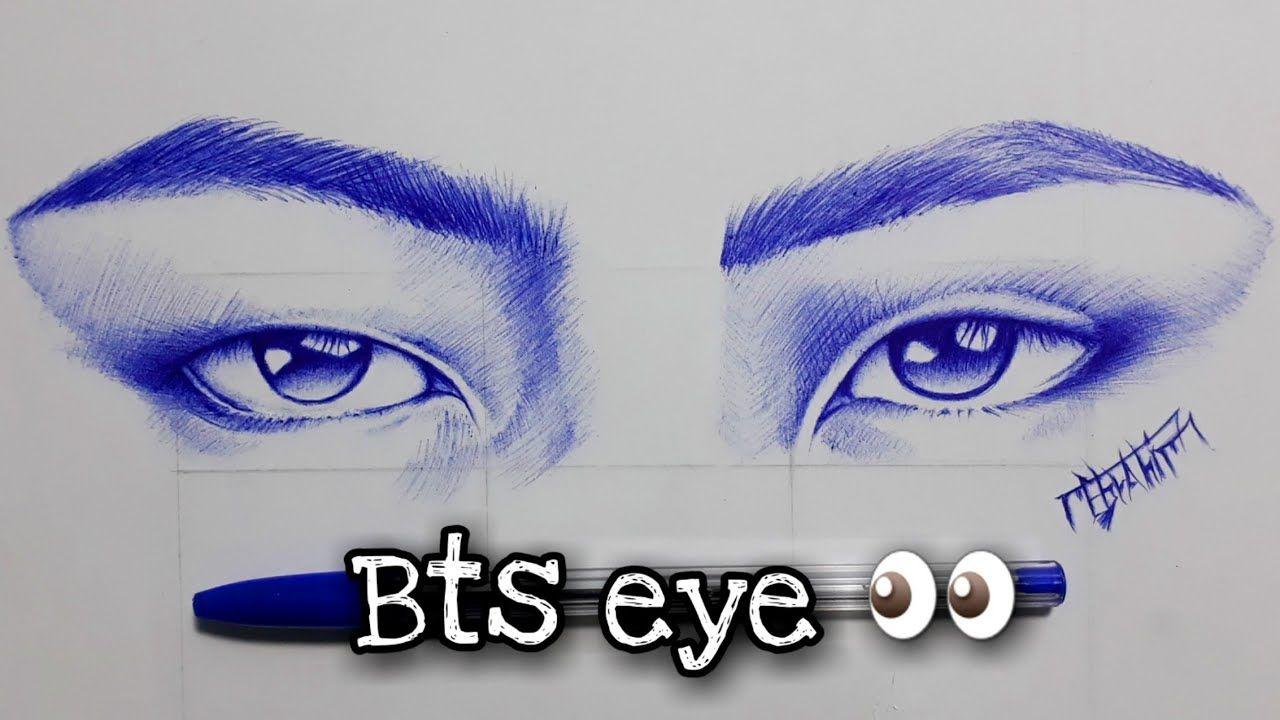 رسم بالقلم الجاف Drawing Bts Eye رسم عيون ال بى تى اس Bts Army بي تى Bts Eyes Kim Taehyung Wallpaper Drawings
