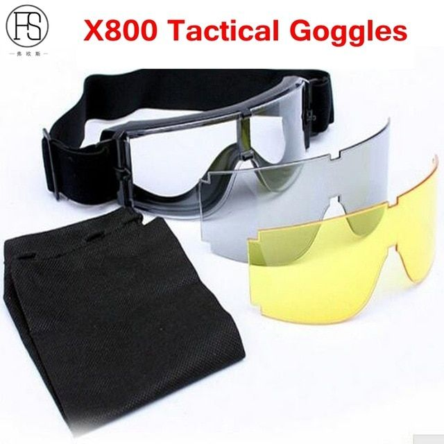 Tactical Airsoft X800 Hiking Cycling Eyewear Games Safety Goggles Outdoor Sports