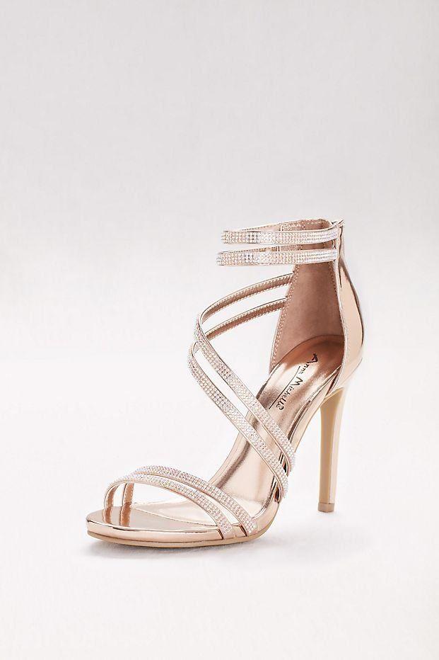 c7054b4af4fe Crystal-Embellished Double-Strap Stiletto Sandals