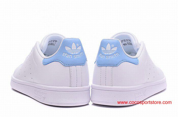 huge discount bbcdc f9b6f Womens Adidas Stan Smith W BA7673 White Sky-blue Womens Originals