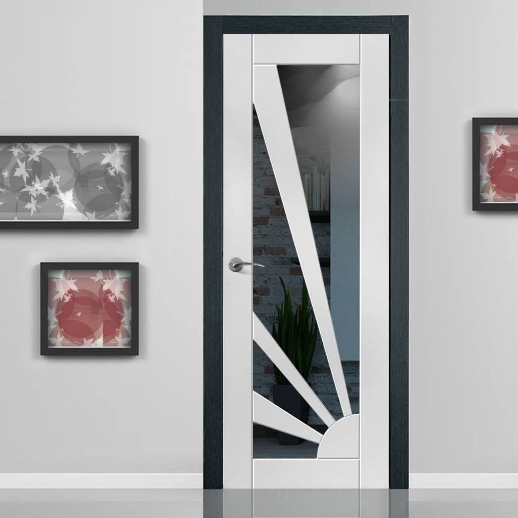 JBK White Shaker Calypso Aurora Primed Door - Vidrio transparente JB Kind Caly ...
