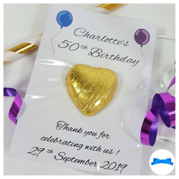Personalised Birthday Favours 18th 21st 30th 40th 50th 60th 70th 80th 90th 100th Chocolate Party Bag Fillers