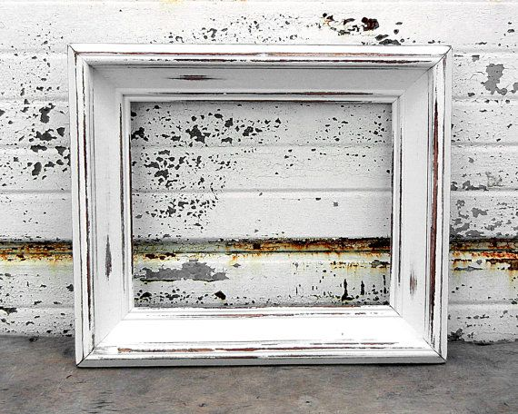 8 X 10 Large Chunky Bright White Picture Frame Shabby Chic
