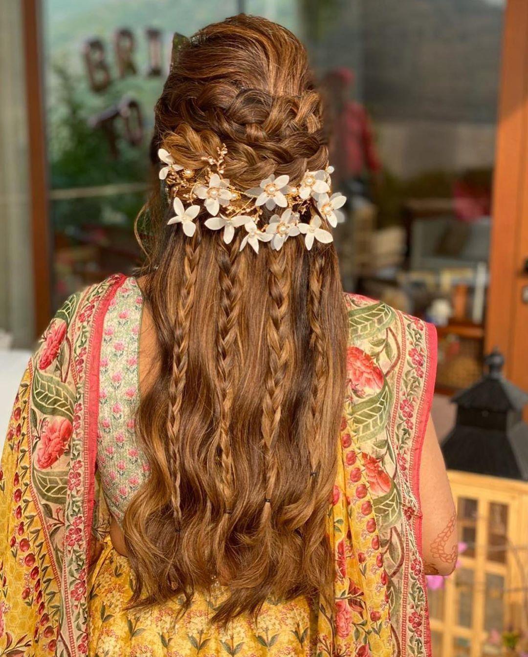 Beautiful Braid Hairstyle   Indian bridal hairstyles ...