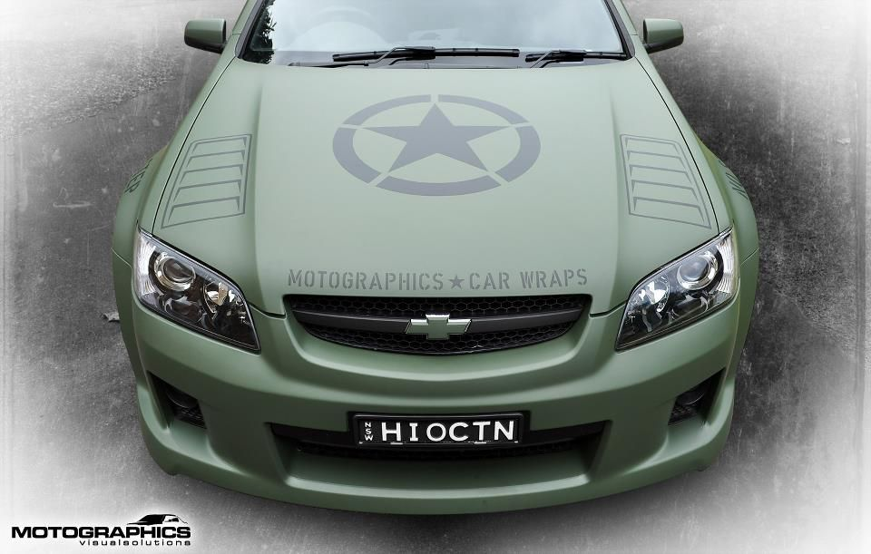 3m Military Themed Holden Ute Body Wrap Australian Ford Forums